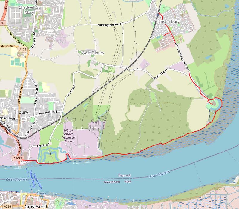 Tilbury Fort to Coalhouse Fort – Thames Estuary Walk