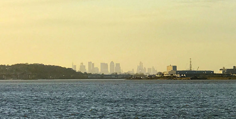 London City Skyline viewed from Purfleet