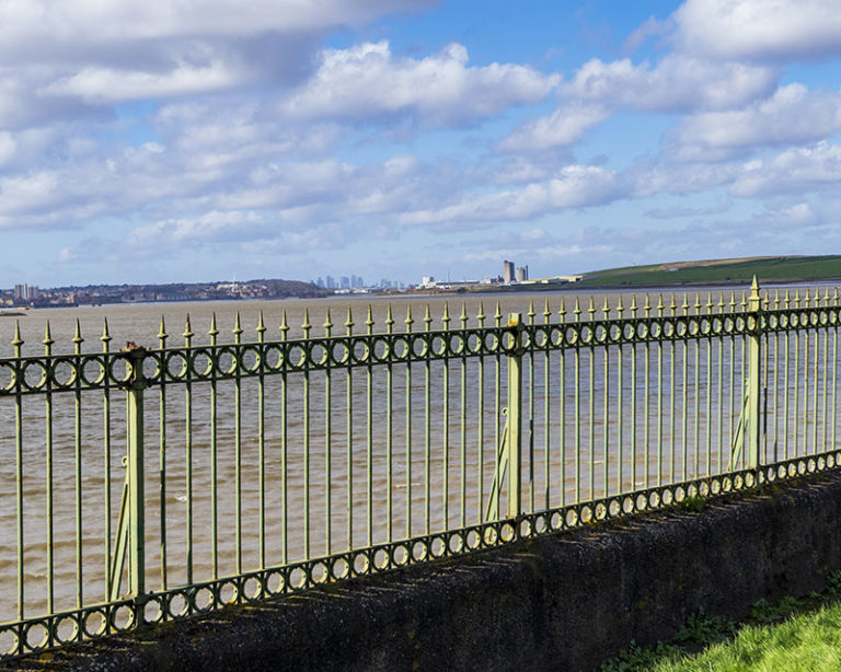 Railings at Purfleet - Thames Riverside