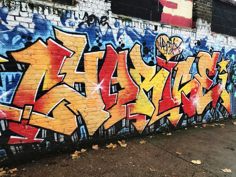 Graffiti in Hackney Wick, East London