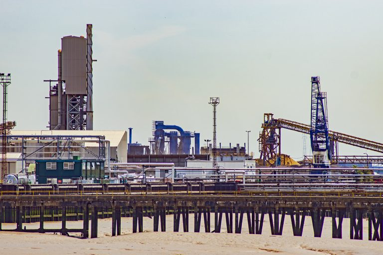 Industrial Landscape along banks of River Thames - Dagenham